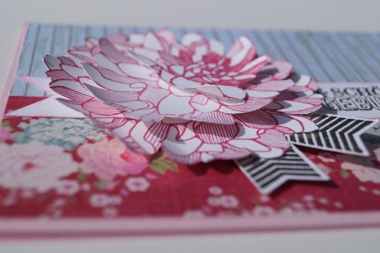 Blumengruß aus Papier, craftyneighboursclub